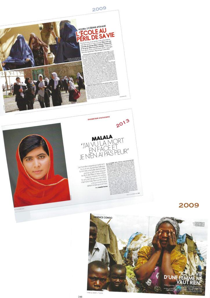 Magazine Elle Malala Conditions des femmes au Congo Inhumanité Génocide des femmes