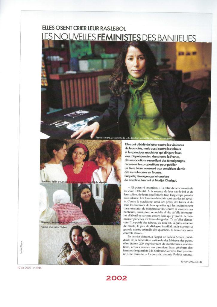 Magazine Elle Feministes des banlieues Femmes dans les banlieues  Liberté
